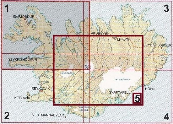Iceland Road Maps - 1:250,000